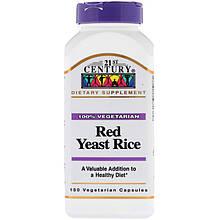 "Красный ферментированный рис, 21st Century ""Red Yeast Rice"" (150 капсул)"