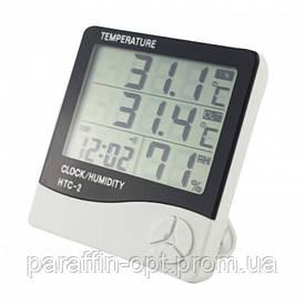Термометр, гигрометр, метеостанция, часы HTC-2 + выносной датчик