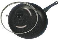 Сковородка Benson BN-340 24 см с крышкой и мраморным покрытием