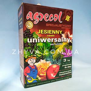 Добриво осіннє універсальне без азоту Agrecol 3кг