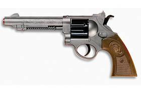Игрушечный пистолет Edison Giocattoli West Colt 28см 8-зарядный с мишенью и пульками