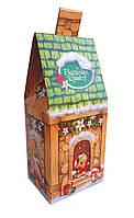 Подарочная коробка для конфет на Николая и Новый год Зеленый сказочный домик