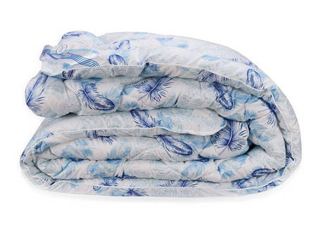 Одеяло лебяжий пух голубое зимнее 200х220 евро, фото 2