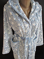 Красивый махровый халат на запах, фото 1