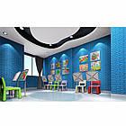 Самоклеющиеся обои Декоративная 3D панель ПВХ 1шт, голубой кирпич (бирюза), фото 7