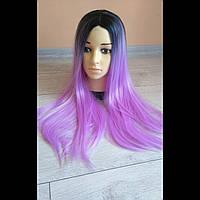 Цветные парики Фиолетовый Омбре