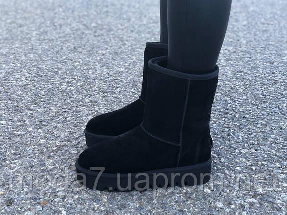 Замшевые женские угги UGG IT TS черные, фото 2