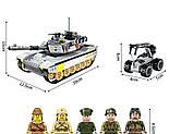"""Конструктор Combat Zones """"Боевой танк-амфибия"""" Американская армия 482 детали, Qman 1721, фото 2"""