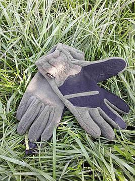 Перчатки флисовые зимние с тачскрином олива