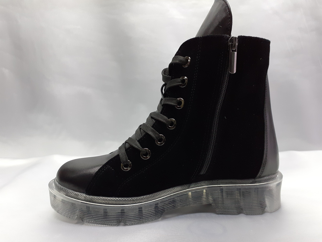Комфортные зимние ботинки на молнии и шнуровке Terra Grande