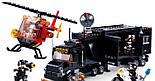 Конструктор SWAT SLUBAN M38-B0659 полиция, трейлер, база, вертолет, фигурки, 540 деталей, фото 2