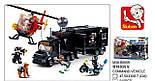Конструктор SWAT SLUBAN M38-B0659 полиция, трейлер, база, вертолет, фигурки, 540 деталей, фото 3