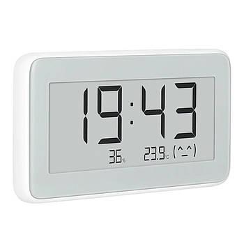 Цифровая метеостанция Xiaomi Mijia Digital Hygrometer Clock E-ink измерение температуры влажности дисплей часы