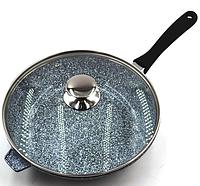 Сковородка Benson BN-521 28*7 см WOK с крышкой и гранитным покрытием, фото 1