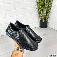 """Туфли мужские черные """"Deumo"""" эко кожа, мокасины мужские, мужская обувь"""