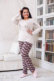 ДН717 Теплая пижама женская размеры(48-56)