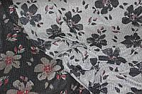 Ткань трикотаж  не плотная резинка , люрекс принт , світло сірий. пог. м.№701, фото 1