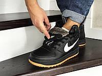 Кроссовки мужские Nike Lunar Force 1 (черные)зима ! Распродажа!Кросы, кросовки, кеды, найк !