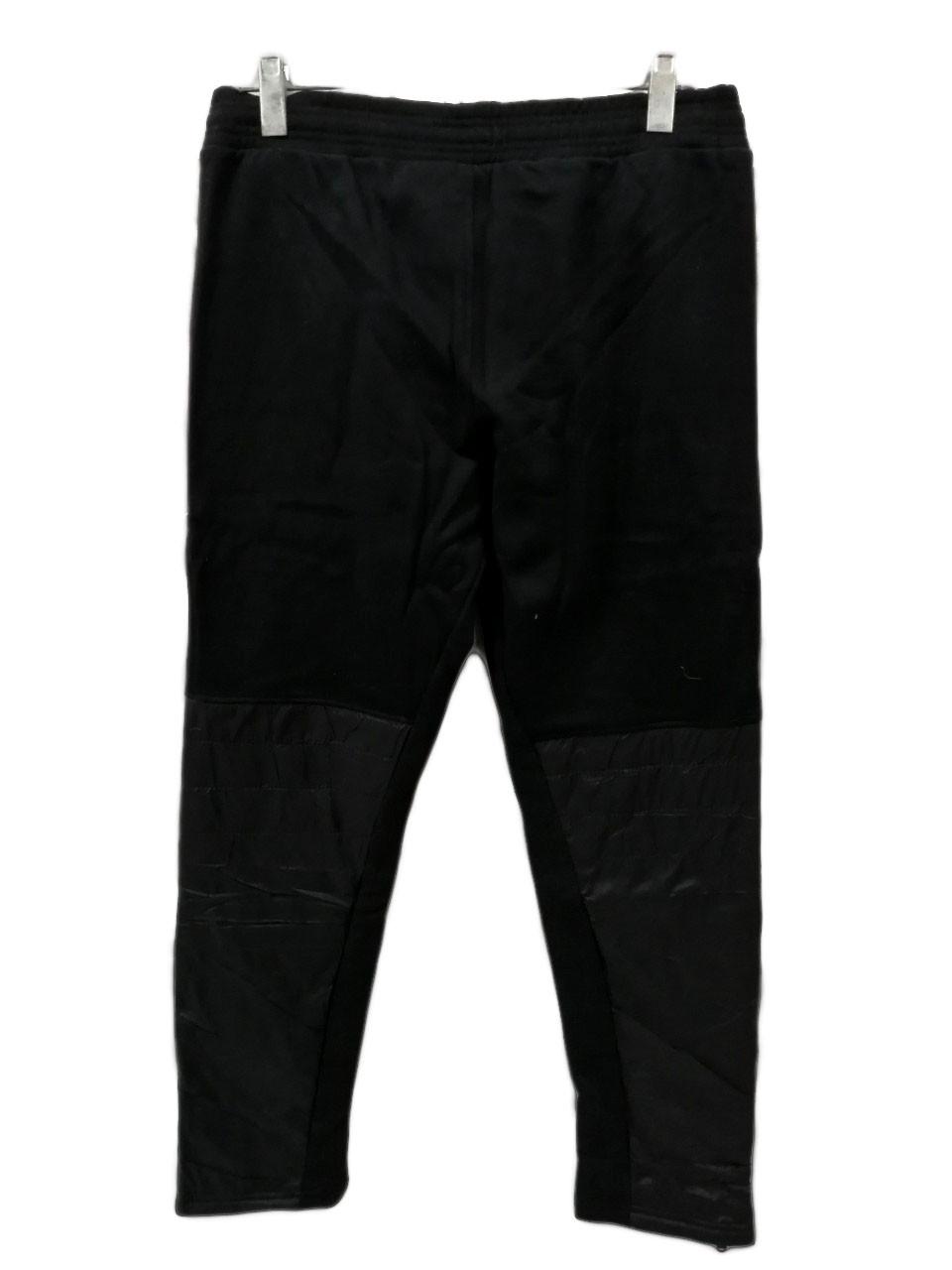 Брюки теплые Maraton прямые зимние мужские спортивные штаны с плащевыми вставками Черный