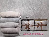 Плед микрофибра плотный 220*240 см с сумкой (от 3 шт)