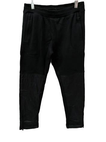 Брюки теплые Maraton прямые зимние мужские спортивные штаны с плащевыми вставками Черный, фото 2