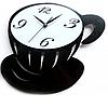 Часы настенные Чашка кофе (металл)