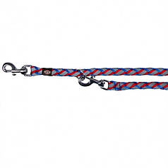 Поводок-перестежка Trixie 13582 Cavo S-M 2 м /12 мм (коса, синий/красный)