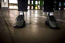 Мужские кроссовки Adidas Y-3 Kaiwa Chunky Sneakers Dark Grey Black ( Реплика ), фото 3