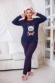 ДН723 Теплая пижама женская размеры(48-56)