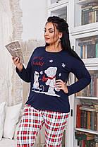 ДН723 Теплая пижама женская размеры(48-56), фото 2