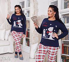 ДН723 Теплая пижама женская размеры(48-56), фото 3