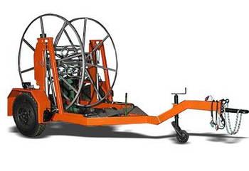 Кабельный транспортер / Прицеп для перевозки кабельных барабанов / кабелевоз
