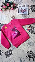 Теплая детская кофта для девочки трехнитка 2 года. Турция!!