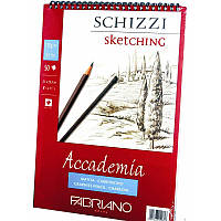 Альбом А4 на спирали (21*29,7см) 120г/м2, 50л, мелкое зерно, Accademia (Fabriano)