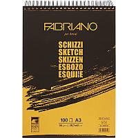 Альбом A3 для эскизов на спирали Schizzi Sketch (29,7x42 см), 90г/м2, 100л., Fabriano