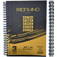 Альбом А4 для эскизов на спирали (21х29,7см), 90г/м2, 120л. Schizzi Sketch (Fabriano)