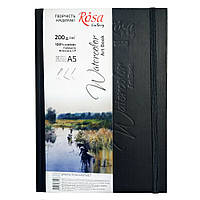 Блокнот для акварели ROSA Gallery A5 черный 200г/м2 c/з 32 л. Artistico CP (Fabriano)