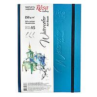 Блокнот для илюстраций и акварели ROSA Gallery A5 бирюзовый 250г/м2 c/з 30 л. Unica (Fabriano)
