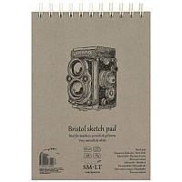Альбом для рисунка на спирали AUTHENTIC (Bristol) А5, 185г/м2, 30л, белая и гладкая бумага, SMILTAINIS