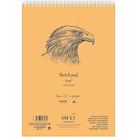 Альбом для эскизов на спирали AUTHENTIC (Kraft) А4, 90г/м2, 60л, коричневый, SMILTAINIS