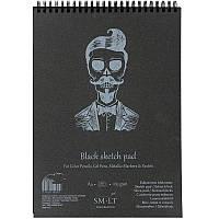 Альбом для рисунка на спирали AUTHENTIC (black) А4 165г/м2 30л черная бумага SMILTAINIS