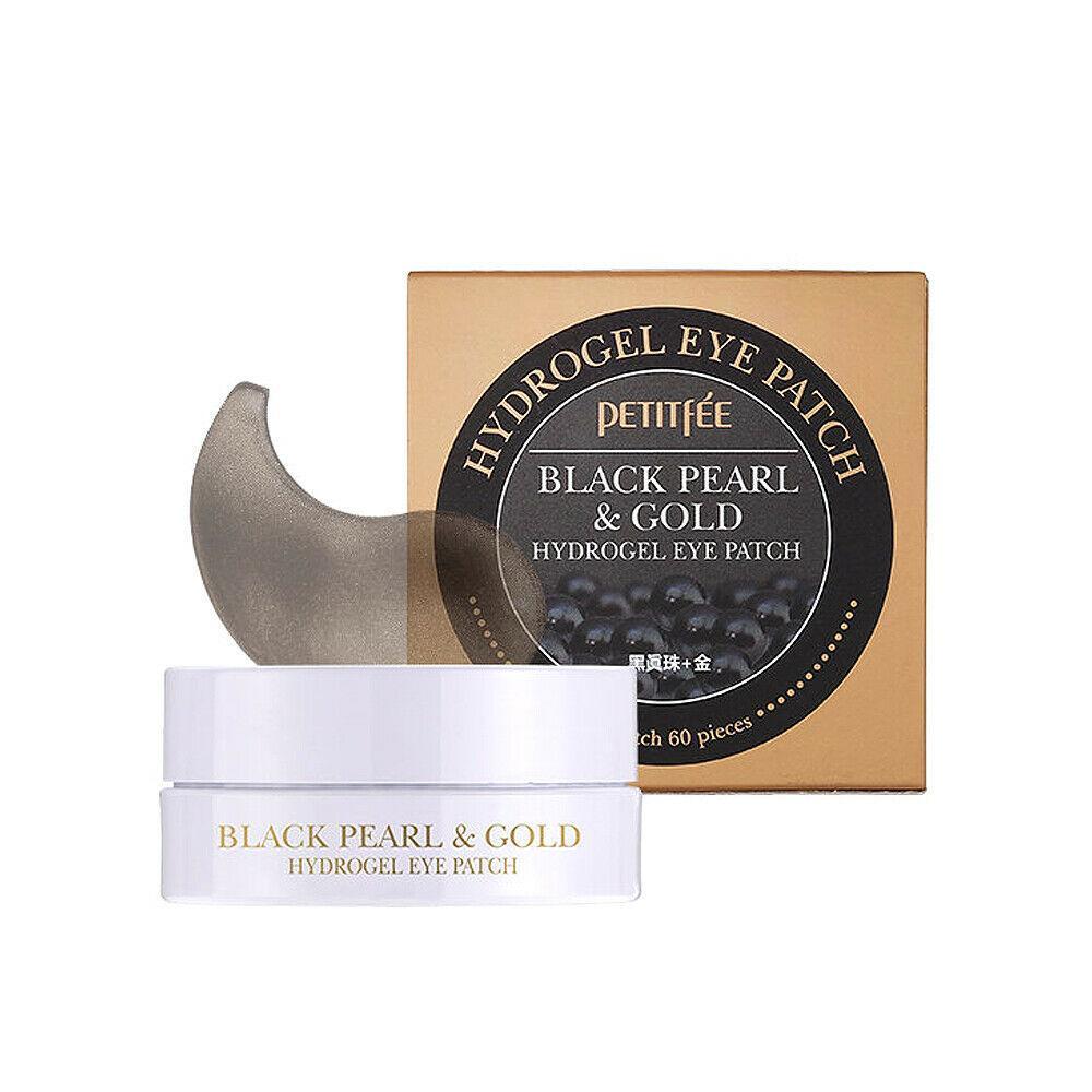 Гидрогелевые патчи для глаз с золотом и черным жемчугом PETITFEE Black Pearl & Gold Hydrogel Eye Patch