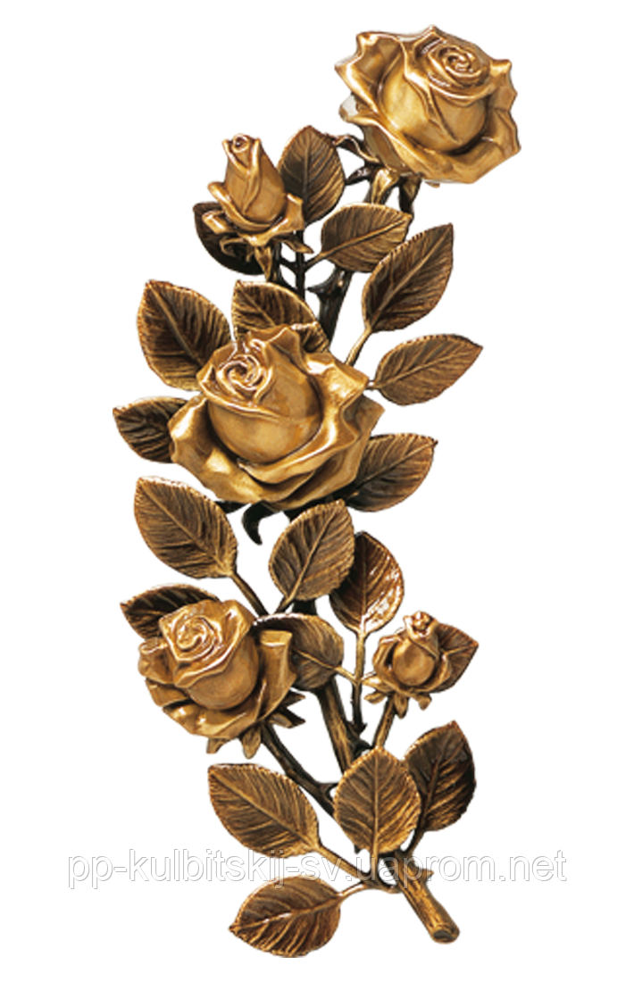Бронзова троянда на пам'ятник G 29351/30*14, фото 1