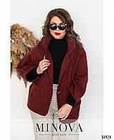 Женское Пальто №1040.21Б-бордо