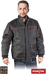 Куртка рабочая утепленная Foreco мужская серая REIS Польша (униформа рабочая спецодежда) FOR-WIN-J SBP