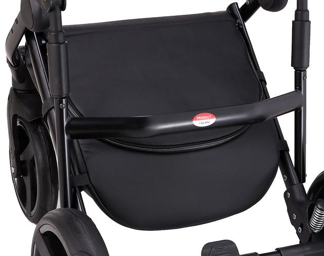 Детская коляска универсальная 2в1 Bair Leo джинс-кожа G-29 красная кожа - красный джинс (Беир Лео)