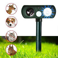 Ультразвуковой отпугиватель грызунов, собак и кошек на солнечной батарее Solar Animal Repeller, фото 1
