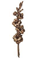 Декоративні накладки на памятник .Квіти бронзові Caggiati 29459/25,5*6