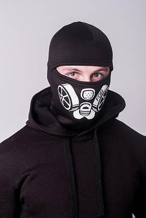 Зимняя балаклава маска с рисунком Сталкер (на флисе), фото 2