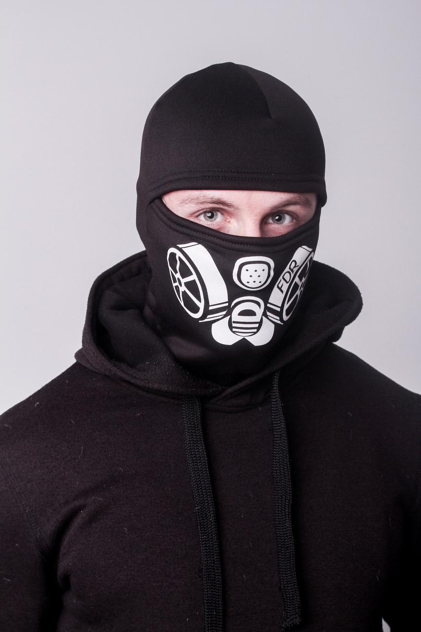 Зимняя балаклава маска с рисунком Сталкер (на флисе)